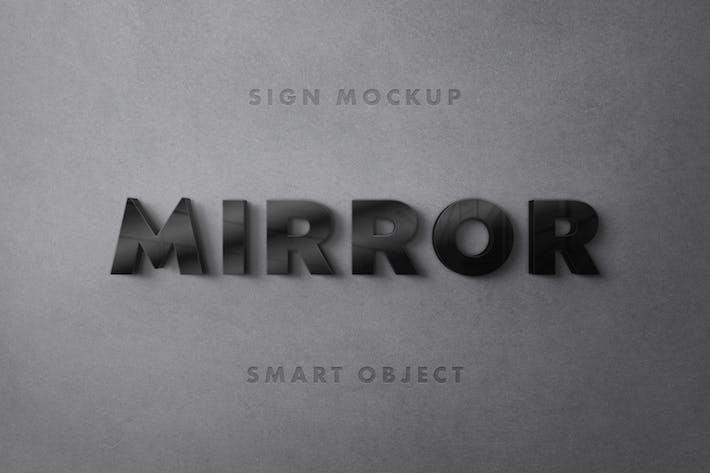 Black Mirror Logo Mockup