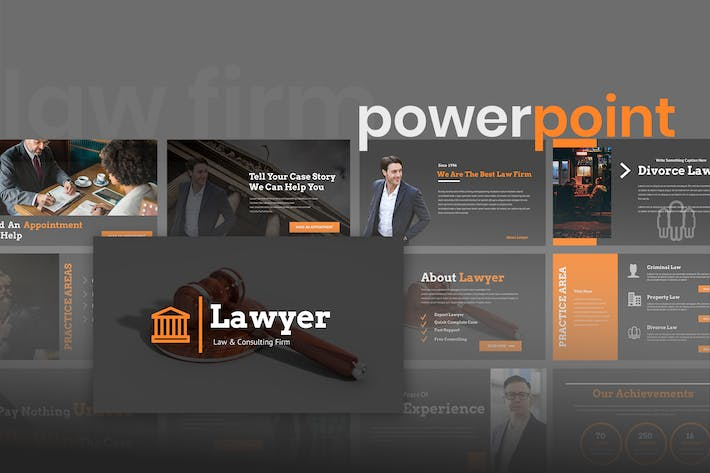Thumbnail for Lawyero - Law & Firm Powerpoint Presentation