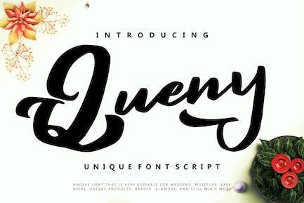 Queny | Unique Font Script