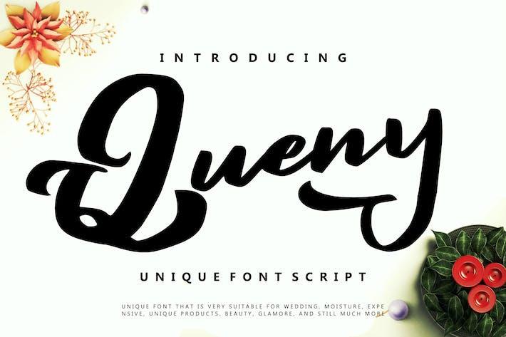 Thumbnail for Queny | Unique Font Script