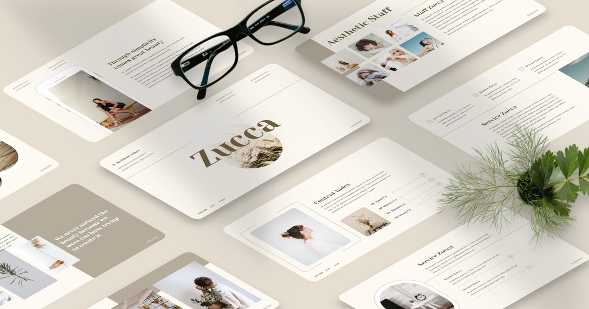 Download Zucca - Aesthetic Keynote Template by Yumnacreative