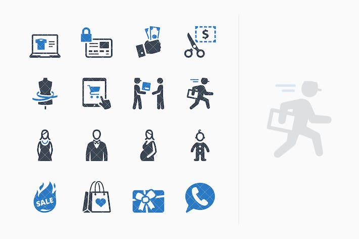 Thumbnail for E-commerce Icons Set 1 - Blue Series