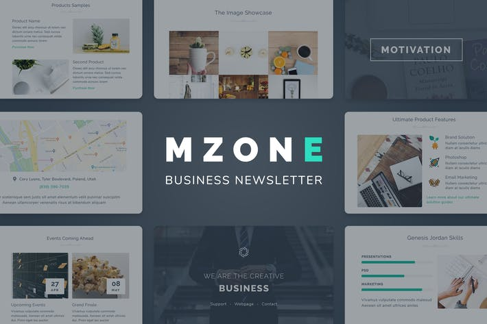 Thumbnail for Mzone Responsive Email Template for Business