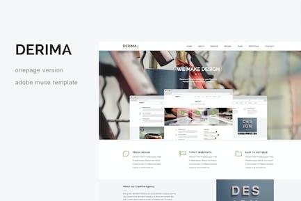 Derima - Творческий одно-страничный многоцелевой Шаблон