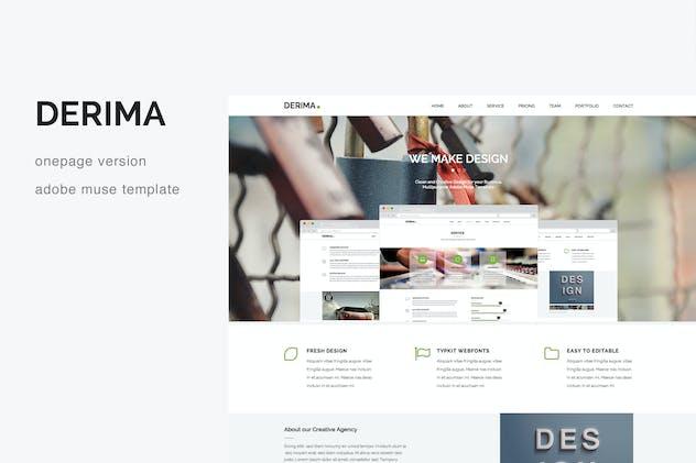Derima - Creative One Page Multi-Purpose Template