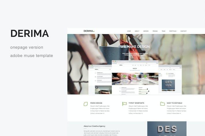 Thumbnail for Derima - Criativo Modelo multiuso de uma página