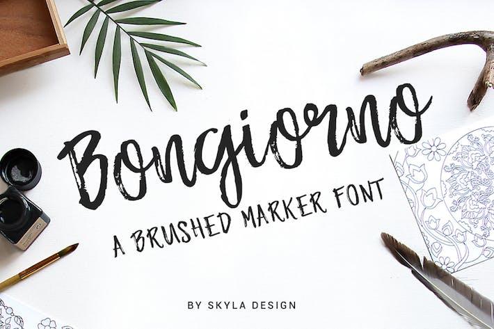 Thumbnail for Brush marker font - Bongiorno
