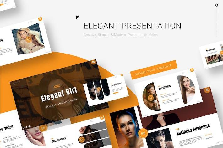 Thumbnail for Элегантная девушка - Google Slide Шаблон