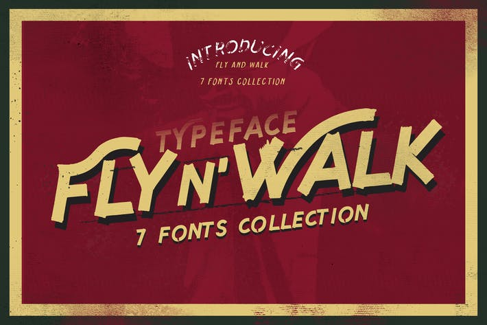 Thumbnail for Fly and Walk Typeface
