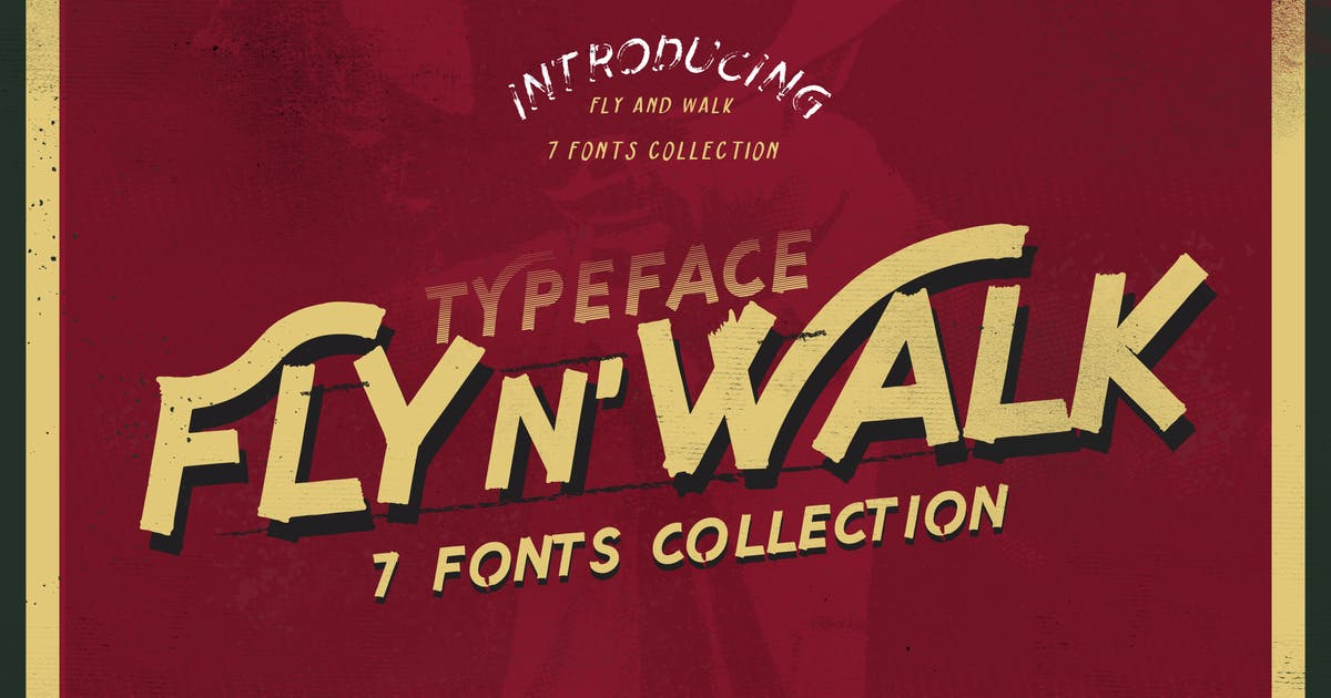 Download Fly and Walk Typeface by LeoSupply