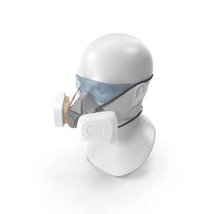 Wiederverwendbare Doppelfilter-Atemschutz