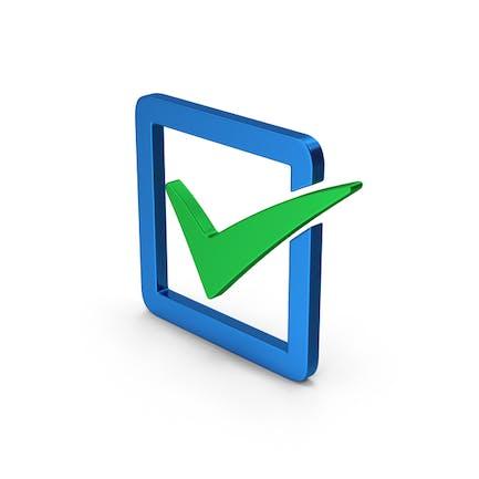 Check Box Blue Green Metallic