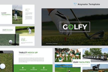 Golfy Keynote Presentation Template