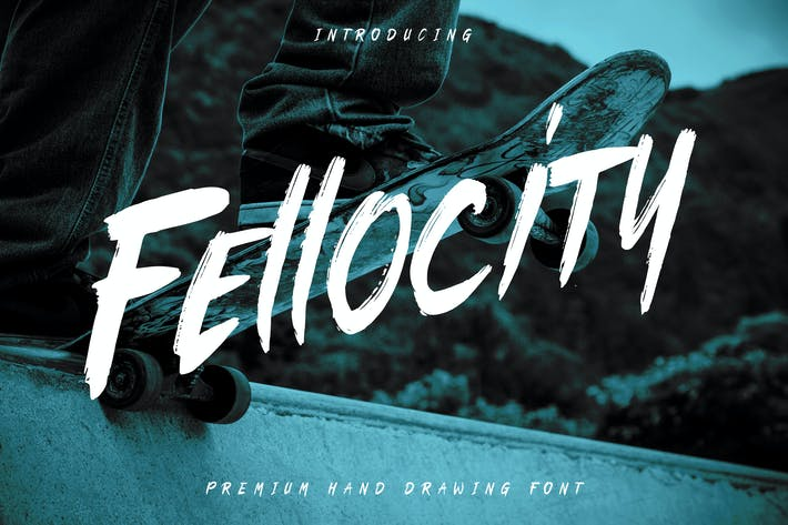 Thumbnail for Fellocity - Urban Brush Font