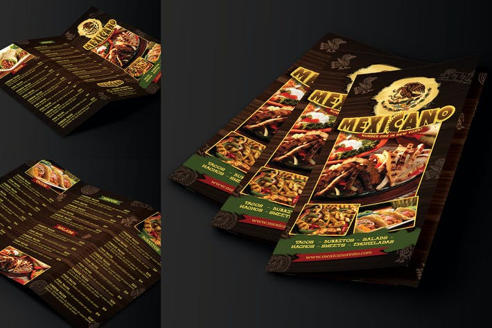 Thumbnail for Mexican Menu Trifold