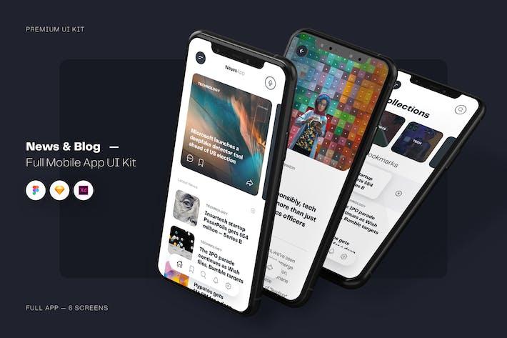 Thumbnail for News & Blog App UI Kit Mobile Template