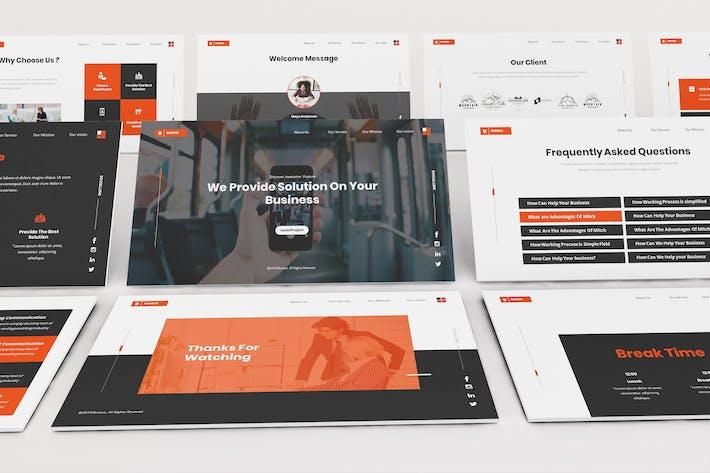 Thumbnail for Branco Business Solution Google Slides Template