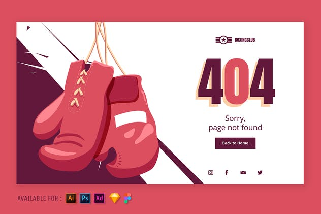 Hanging Boxing Gloves - Web Illustration