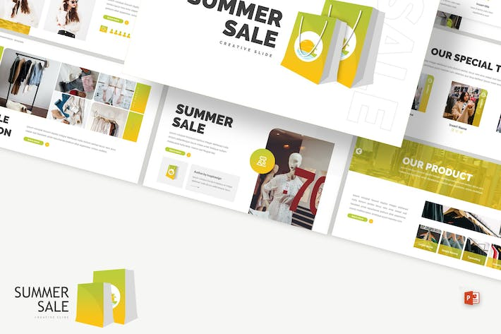 Summer Sale - Store Powerpoint Template