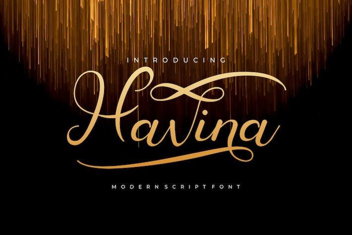 Havina - уникальный современный шрифт
