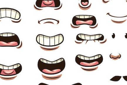 Mund und Augen