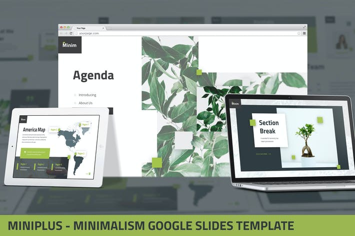 Thumbnail for MiniPlus - Minimalism Google Slides Template