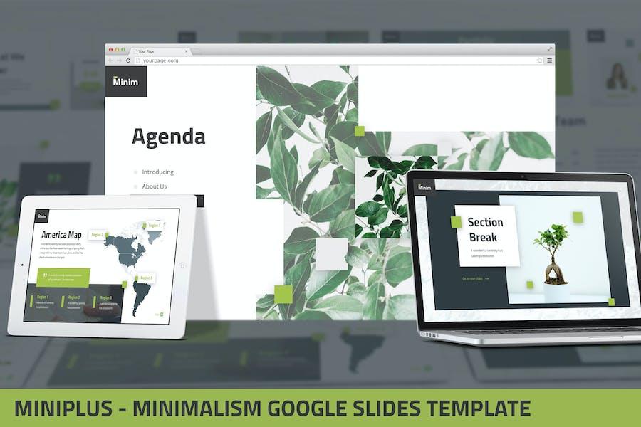 MiniPlus - Minimalism Google Slides Template