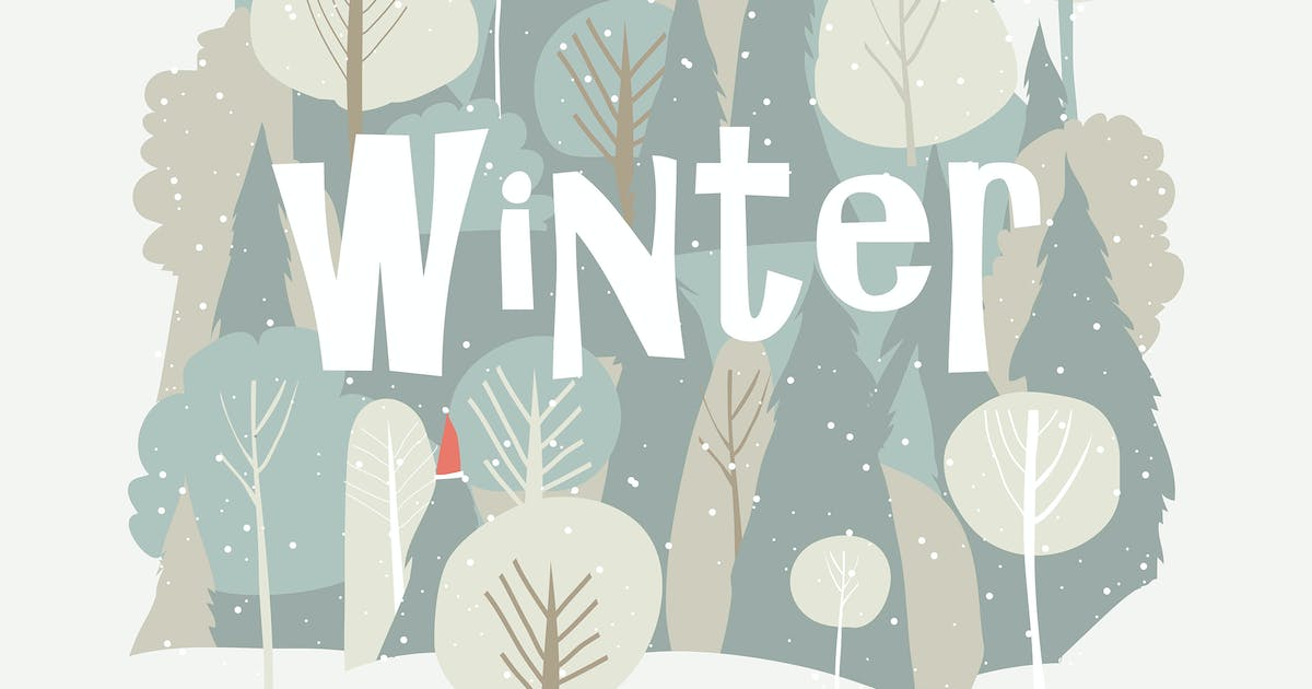 Download Vector cartoon winter forest. Christmas background by masastarus