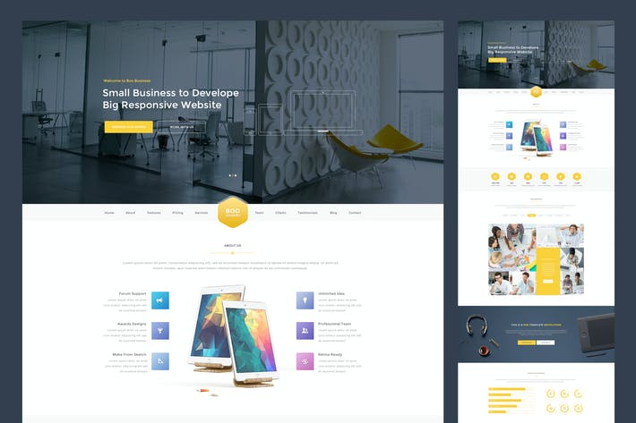 Thumbnail for Coorporate PSD Template