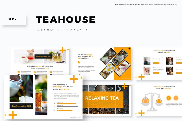 Чайный дом - Шаблон Keynote