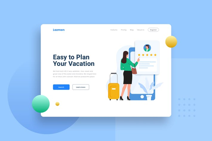Thumbnail for Hotel Point rewards Landing page Illustration