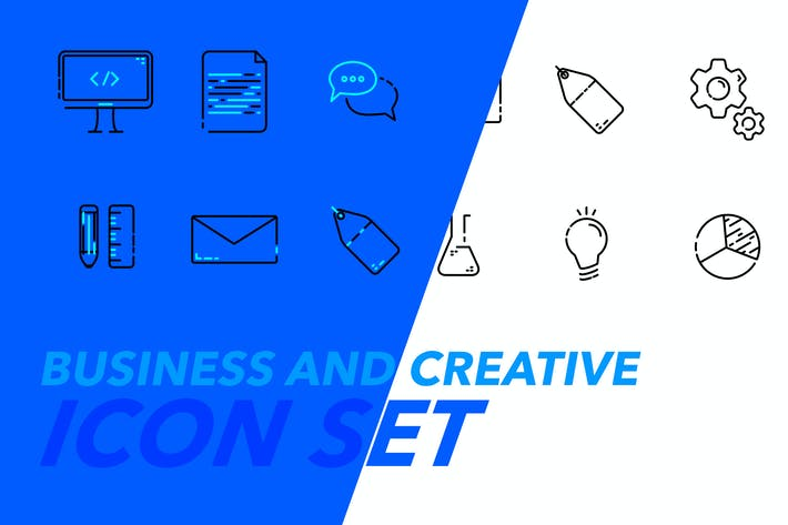Thumbnail for 12 Business and Creative Icons