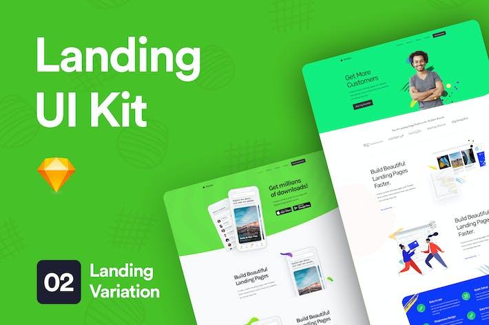 Thumbnail for Landing UI Kit 02