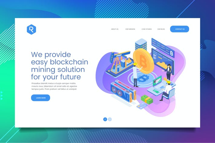 Thumbnail for Bitcoin Web Header PSD & Vector Template Vol. 01