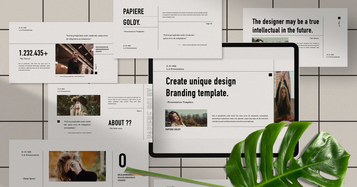 Download Papiere Goldy Business Plan Powerpoint by templatehere