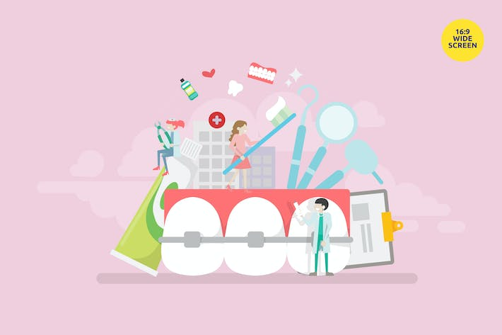 Thumbnail for Modern Orthodontics Treatment Vector Concept