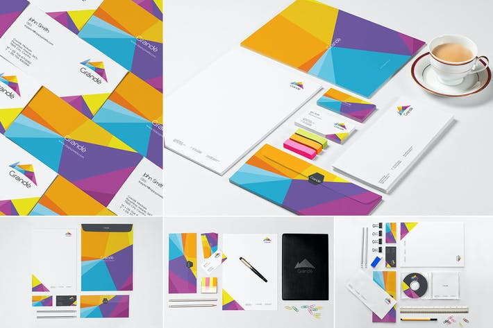 Thumbnail for Stationery Branding Mockups