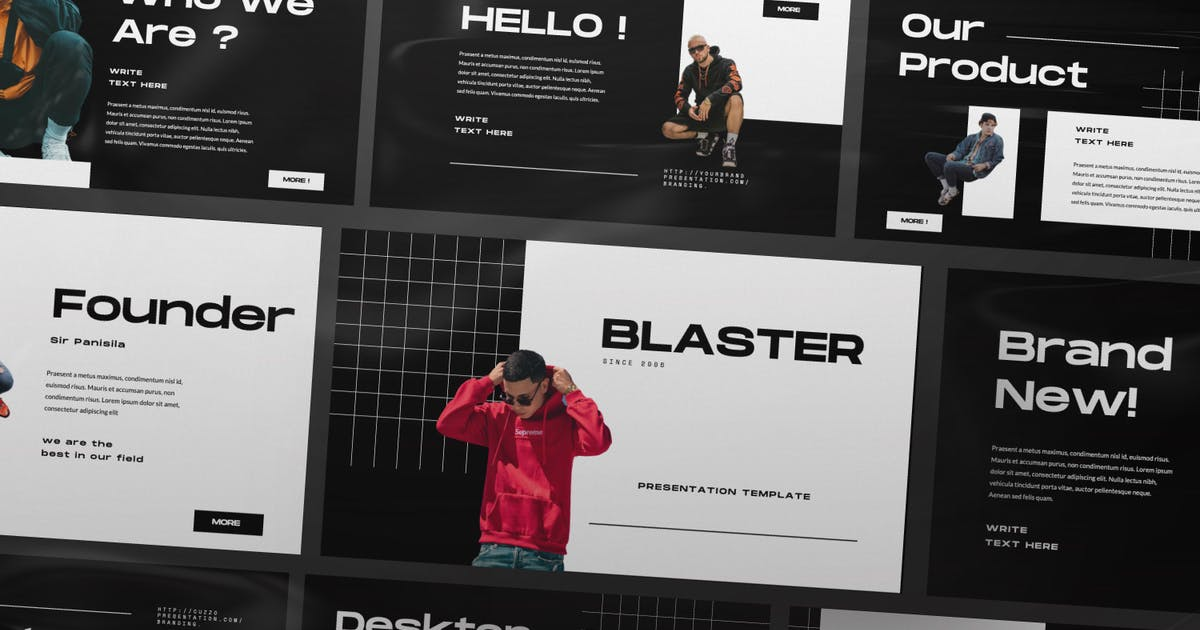 Download Blaster Urban Keynote Presentation Template by TempCraft