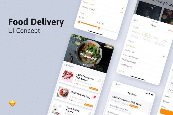 Thumbnail for Food Ordering Mobile UI Template