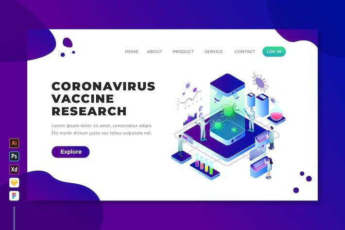 Coronavirus Vaccine Research - Isometric Web Page