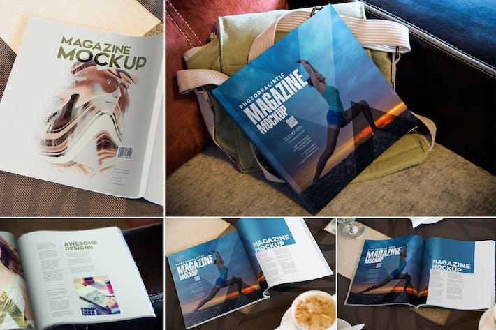 Thumbnail for Square Fashion Magazine Mockup
