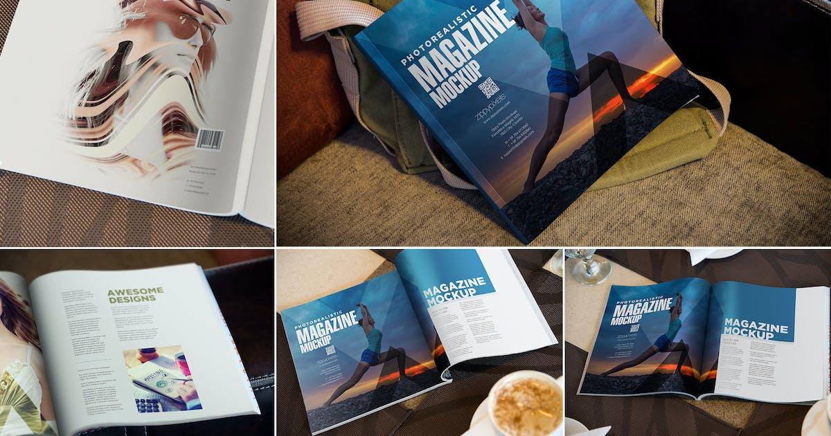 Download Square Fashion Magazine Mockup by zippypixels