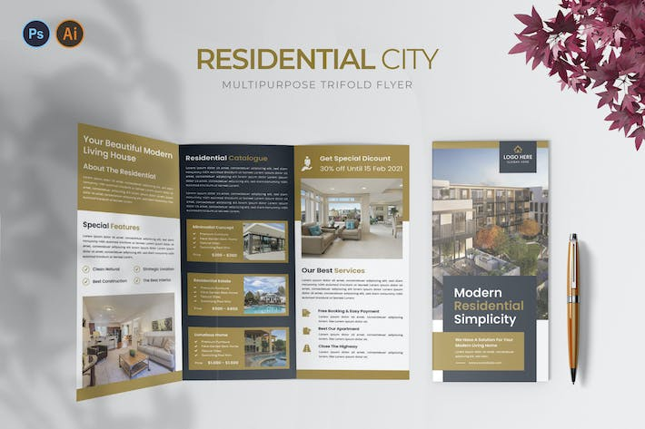 Residential City – Trifold Brochure
