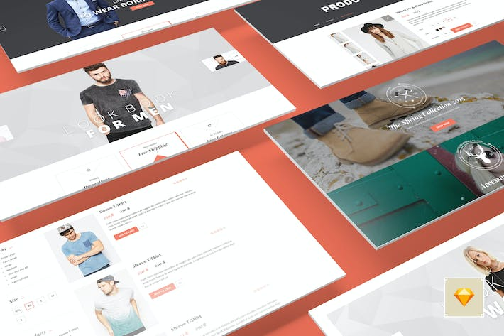 Thumbnail for Canifa - eCommerce Sketch Templates