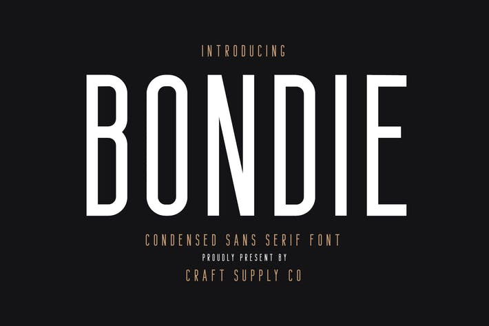 Thumbnail for Bondie - Condensed Sans Serif Font