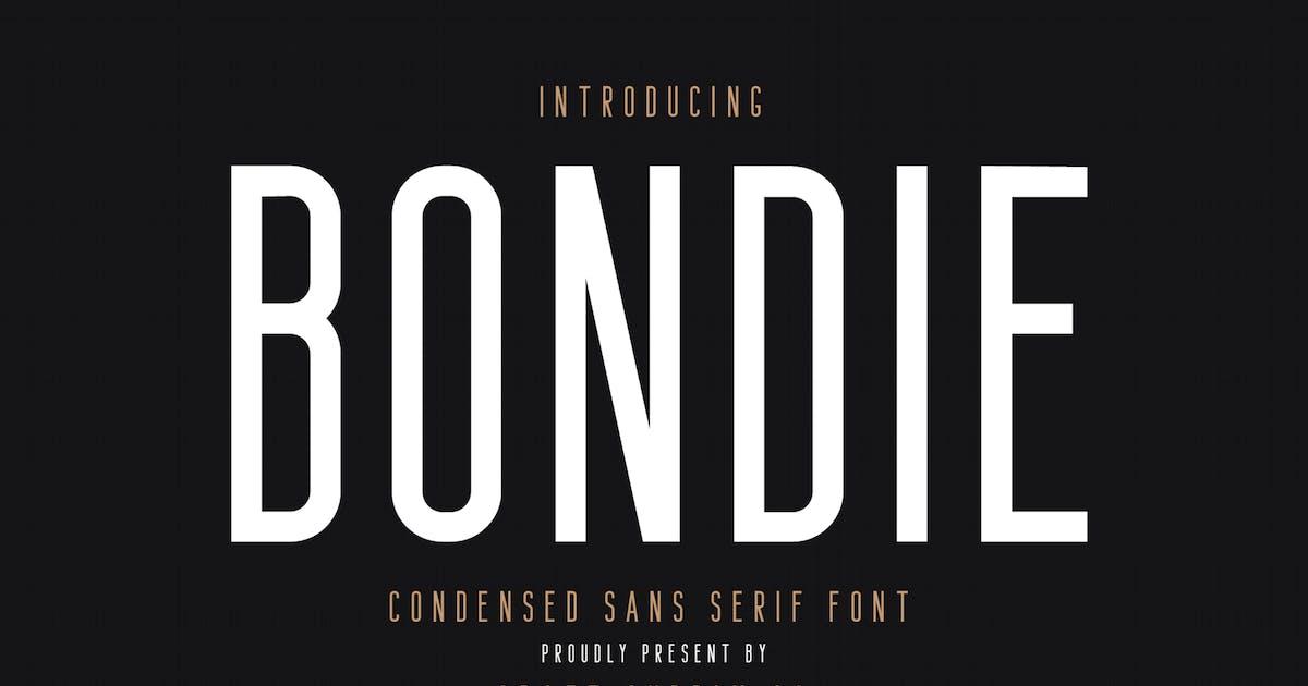 Download Bondie - Condensed Sans Serif Font by craftsupplyco