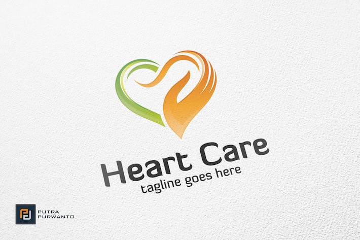 Cover Image For Heart Care - Logo Template