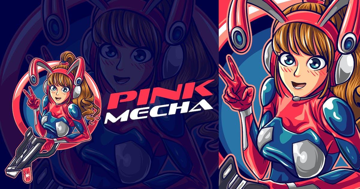Download Cute Mecha Gamer Girl Esports Mascot Logo by Suhandi