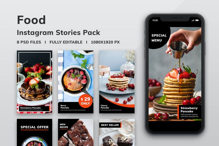 Thumbnail for Food Instagram Stories Pack