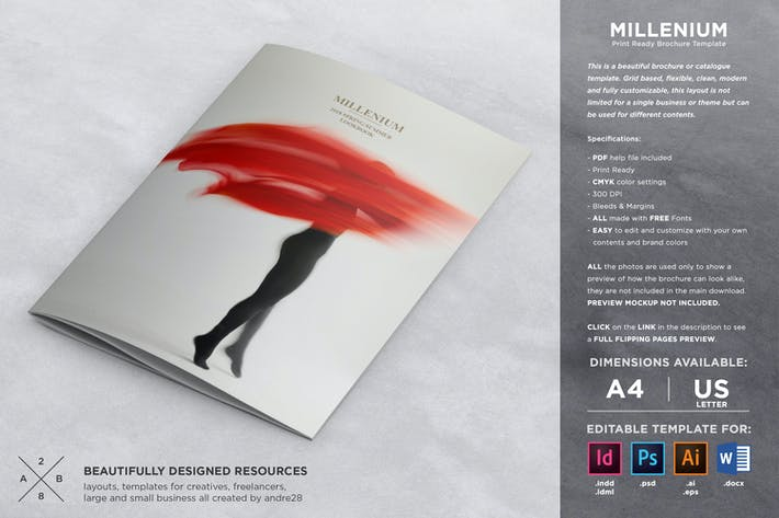 Cover Image For Fashion Catalogue / Brochure Template